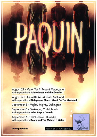 Paquin EP Release Tour