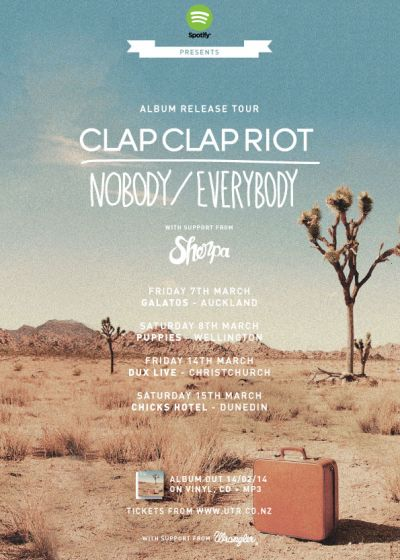 Clap Clap Riot - Nobody Everybody Album Release Tour
