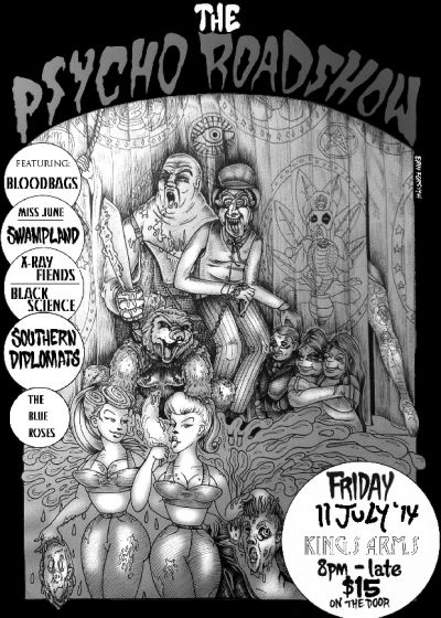 The Psycho Roadshow with Bloodbags, Miss June, Swampland + more