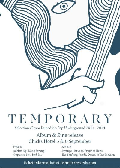 TEMPORARY Compilation LP and Zine Release Shows Friday 5th & Saturday 6th