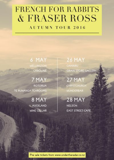 French For Rabbits and Fraser Ross Autumn Tour