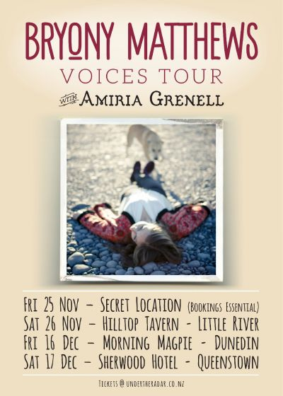 Bryony Matthews Voices Tour with Amiria Grenell