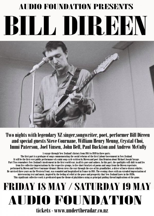 Audio Foundation Presents: Bill Direen + Special Guests