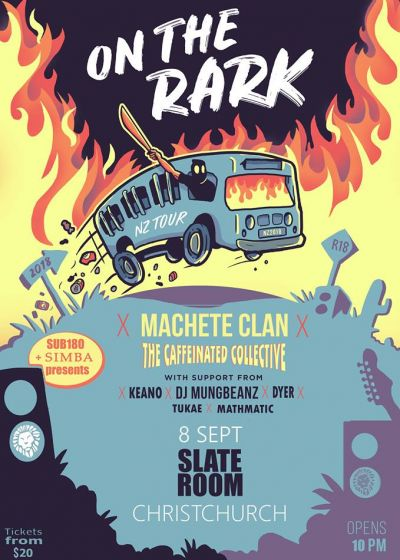 Machete Clan, Caffeinated Collective, Dyer, Keano