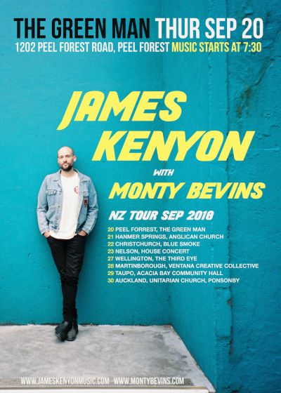 James Kenyon with Monty Bevins