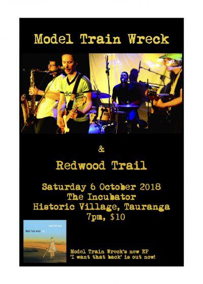 Model Train Wreck & Redwood Trail- live in Tauranga