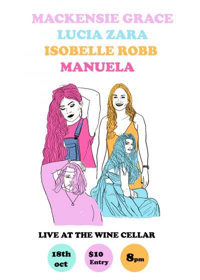 Mackensie Grace, Isobelle Robb, Lucia Zara + Manuela