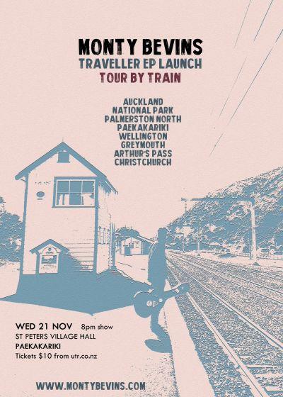 Monty Bevins - Traveller EP Launch - Tour By Train