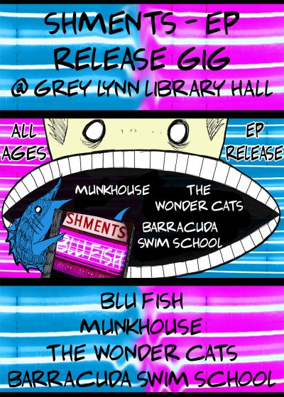 Blu Fish EP Release w. Munkhouse, Wonder Cats and BSS (All Ages)
