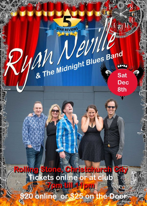 Ryan Neville and The Midnight Blues Band - Fiery Blues and Rockabilly
