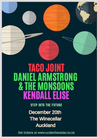 Taco Joint, Daniel Armstrong and The Monsoons, Kendall Elise