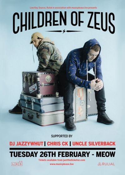 Children Of Zeus with Dj Jazzywhut!, Chris Ck and Uncle Silverback