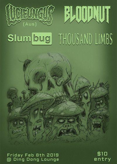 Lucifungus, Bloodnut, Thousand Limbs, Slumbug