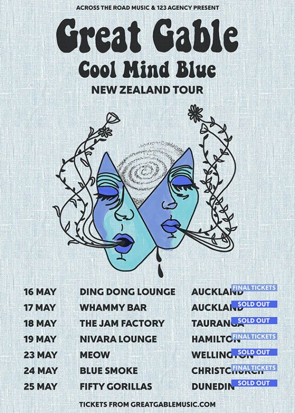 Great Gable - Cool Mind Blue Tour (NZ)