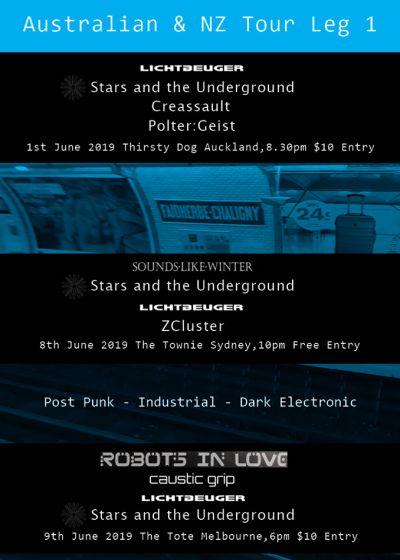 Lichtbeuger, Stars And The Underground, Creassault, Poltergeist