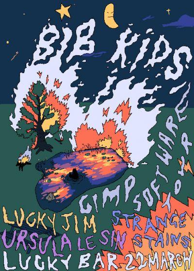 Bib Kids! Ursula Le Sin! Strange Stains! Lucky Jim! @ Lucky Bar