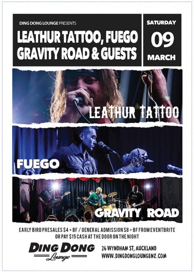 Leathur Tattoo, Fuego, Gravity Road, Guests