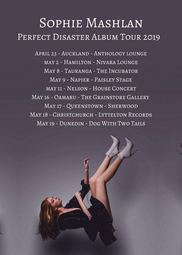 Sophie Mashlan Perfect Disaster Album Tour 2019