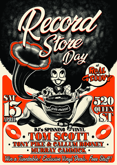 Record Store Day At Real Groovy - Tom Scott DJ Set