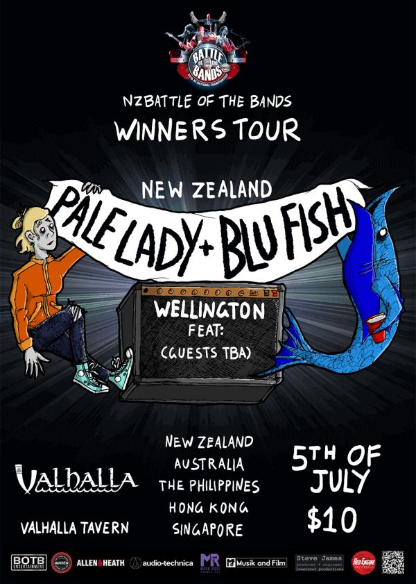 Pale Lady + Blu Fish NZ Tour