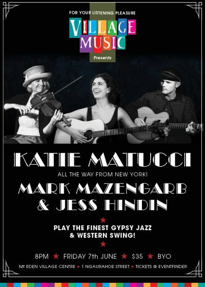 Katie Matucci, Mark Mazengarb and Jess Hinton, In Concert
