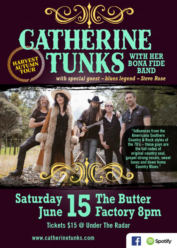 Catherine Tunks and her Bona Fide Band Harvest Tour