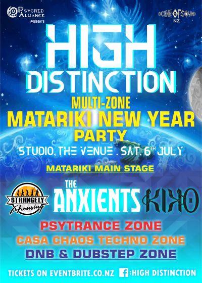 High Distinction - The Anxients, Kiko, Strangely Arousing