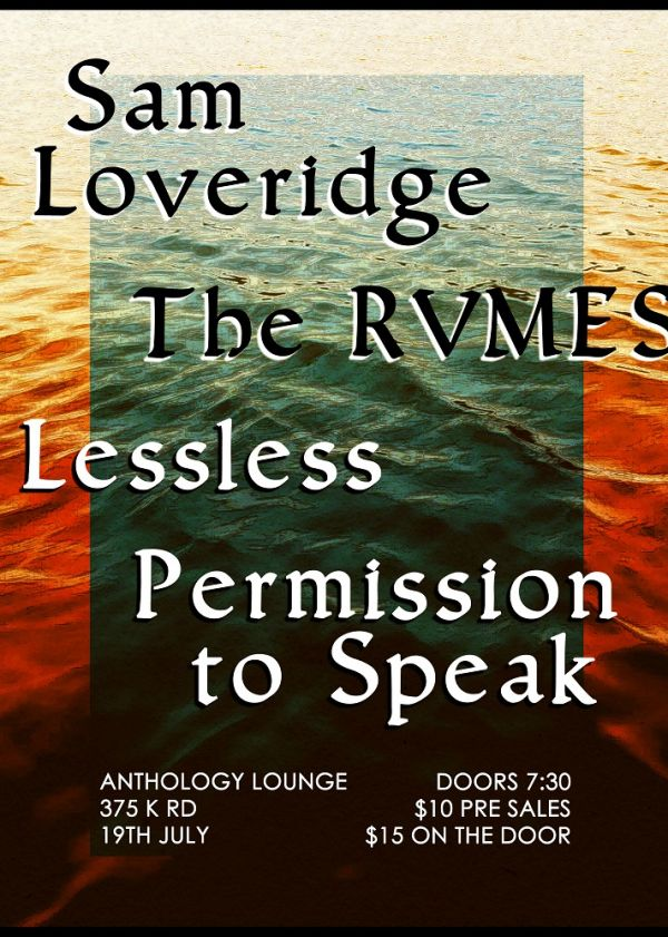 Sam Loveridge 'Cold' Video Release Party w/ The Rvmes / Lessless