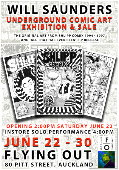 Will Saunders - Shlipp Comix Art Exhibition