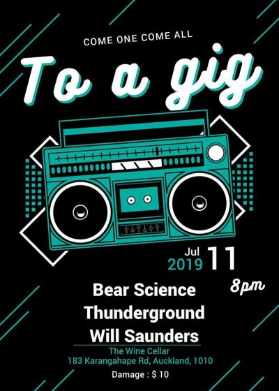 Bear Science, Will Saunders and Thunderground