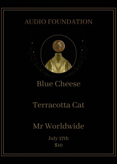 Blue Cheese, Terracotta Cat, Mr. Worldwide