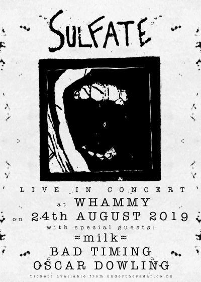 Sulfate - North Island Tour - Whammy Bar, Auckland - Sat, 24
