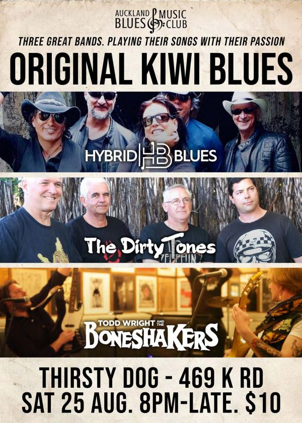 Hybrid Blues, The Dirty Tones, Todd Wright and The Boneshakers
