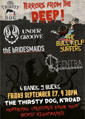 Under Groove, The Bull Kelp Surfers, Disentra, The Bridesmaids