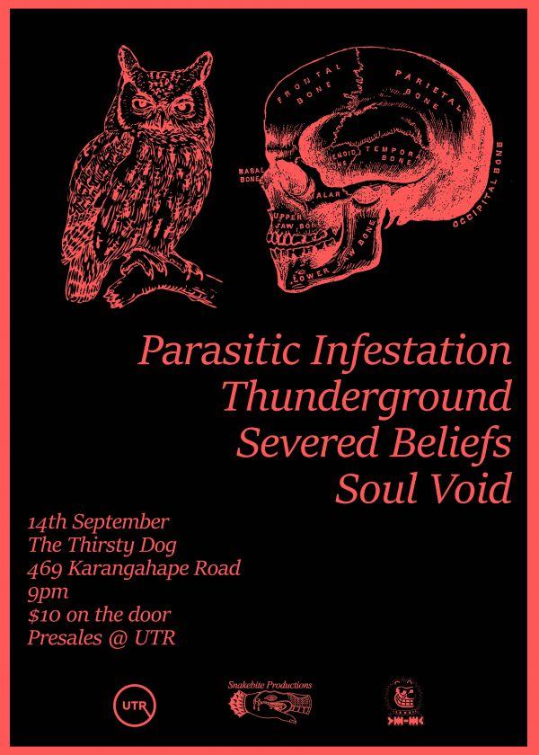 Thunderground / Parasitic Infestation / Severed Beliefs / Soul Void