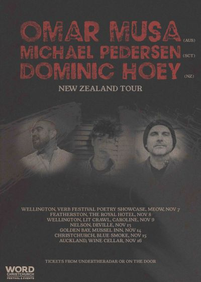 Dominic Hoey, Michael Pedersen, Omar Musa