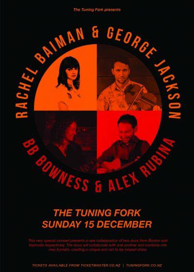 George Jackson, Rachel Baiman, Alex Rubin, BB Bowness