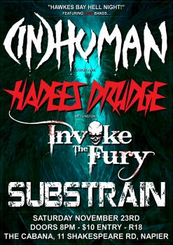 (IN)Human, Hadees Drudge, Invoke The Fury, Substrain
