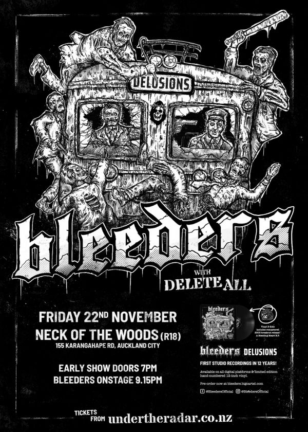 Bleeders - Delusions Release Tour