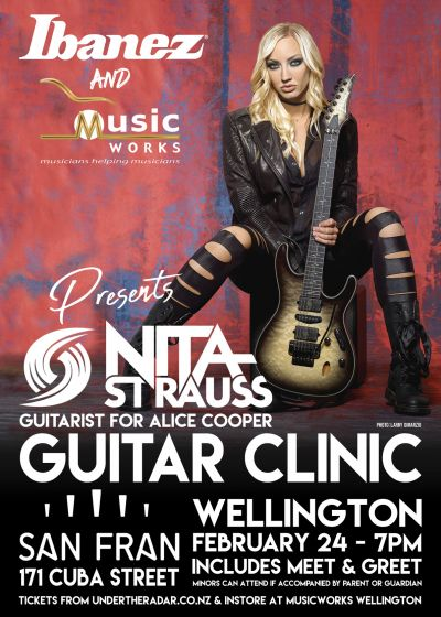 Nita Strauss Wellington Guitar Clinic