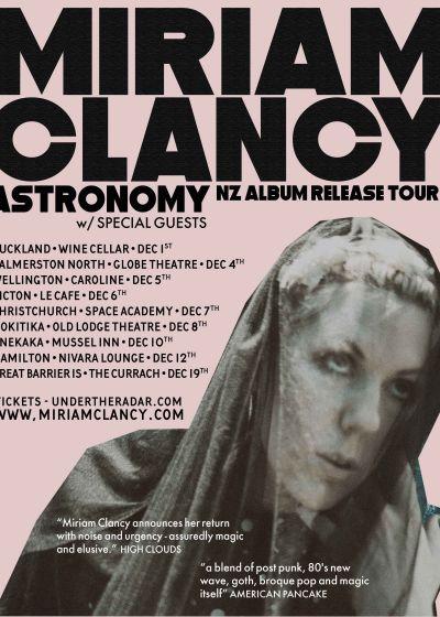 Miriam Clancy ☆ ASTRONOMY ☆ Album Release Tour