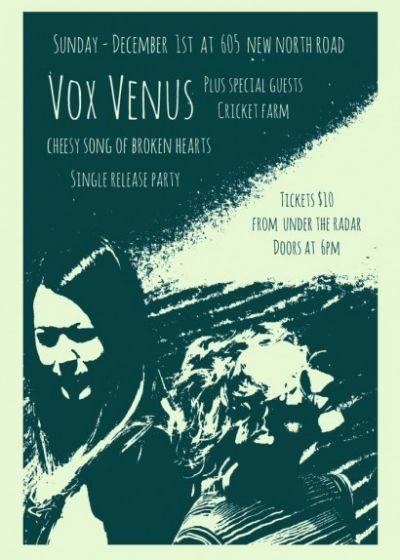 Vox Venus Single Release Party w/ special guests Cricket Farm