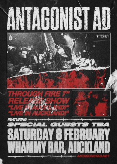 "Antagonist A.D. Through Fire 7"" Release Show"