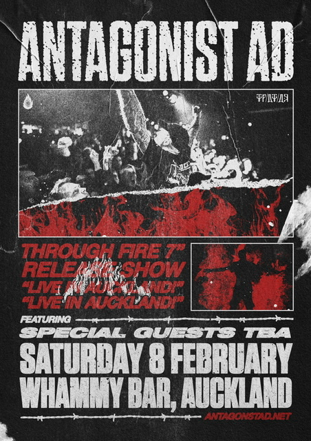 """Antagonist A.D. Through Fire 7"""" Release Show"""