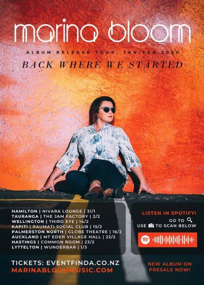 Back Where We Started - Marina Bloom Album Tour 2020