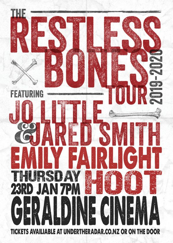 Jo+Jared, Emily Fairlight and Hoot - Restless Bones Tour