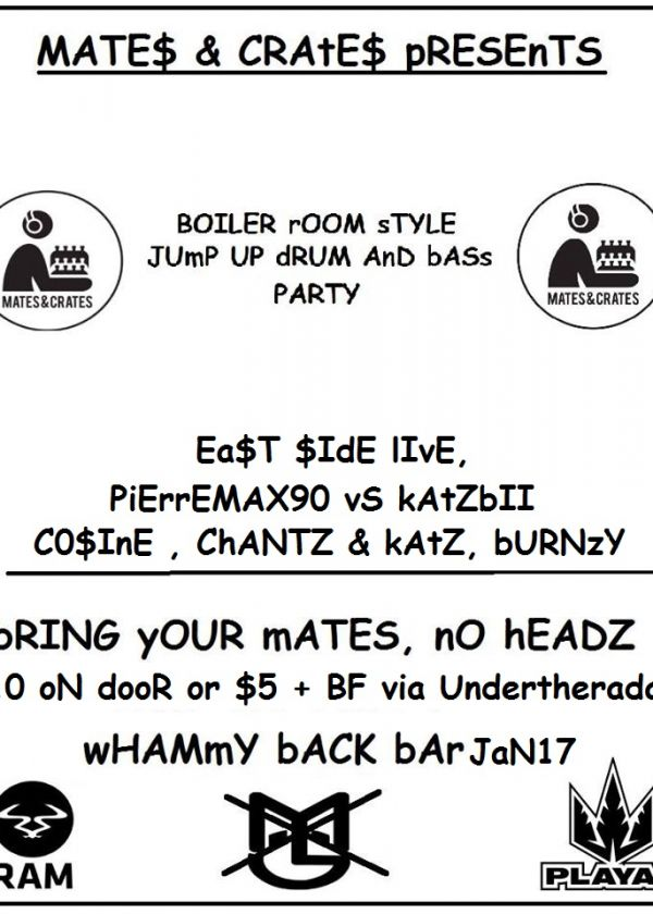 M&C Presents - Boiler room style Jump up Drum & Bass Party