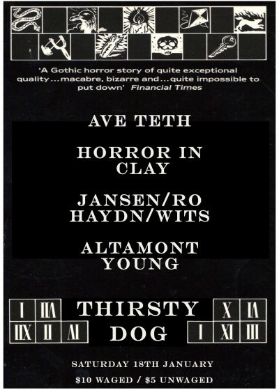 Ave Teth, Horror In Clay, Altamont Young, Jansen/ro/haydn/wits