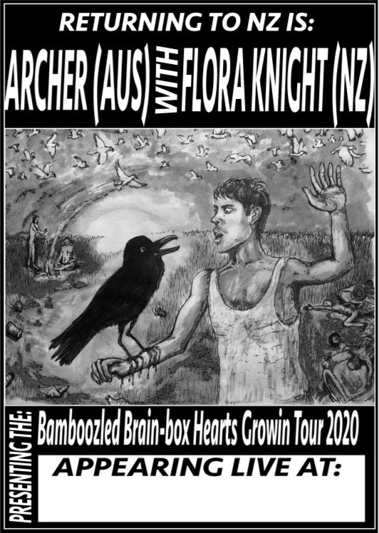 Archer and Flora's Bamboozled Brain Box Hearts Growin Tour 2020