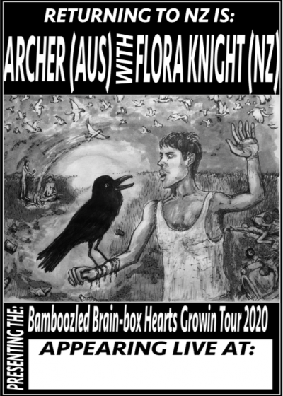 Archer and Flora's Bamboozled Brain Box Hearts Growin Tour 2020